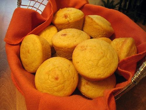 Cornbread mini muffins - Add hotdogs to the center for mini corndogs