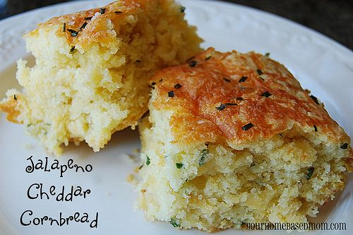 Jalapeno Cheddar cornbread...moist and perfect!