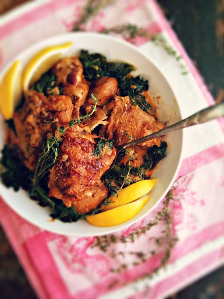 sweetsugarbean: Braised Chicken and Kale with Paprika & White Wine ...