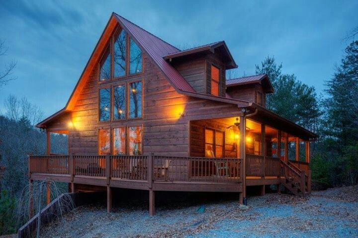 Luxury Cabin Log Cabin Homes Pinterest