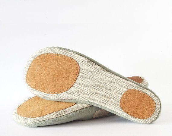 Women 39 s vegan house shoes zen green ballet flats for Minimalist house slippers