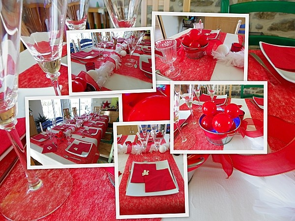Noël rouge et blanc  Déco de table  Pinterest