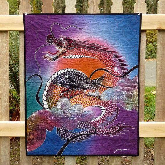 Chinese Dragon Quilt Dragons Asian Wall Hanging