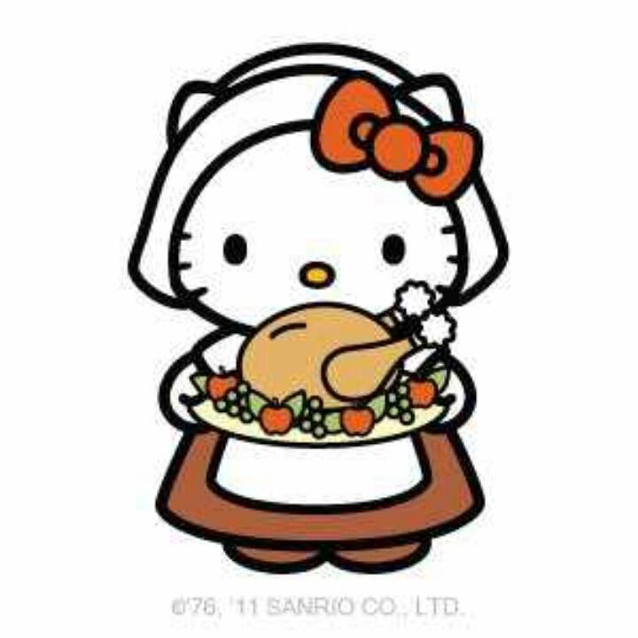 Hello Kitty Turkey Coloring Pages : Turkey thanksgiving hello kitty pinterest