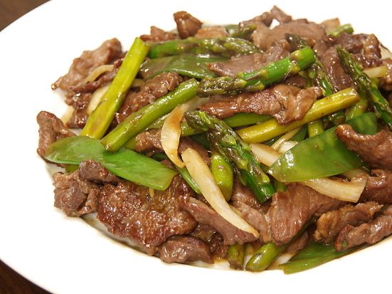 Beef and Asparagus Stir Fry | chinese and stir-fry | Pinterest