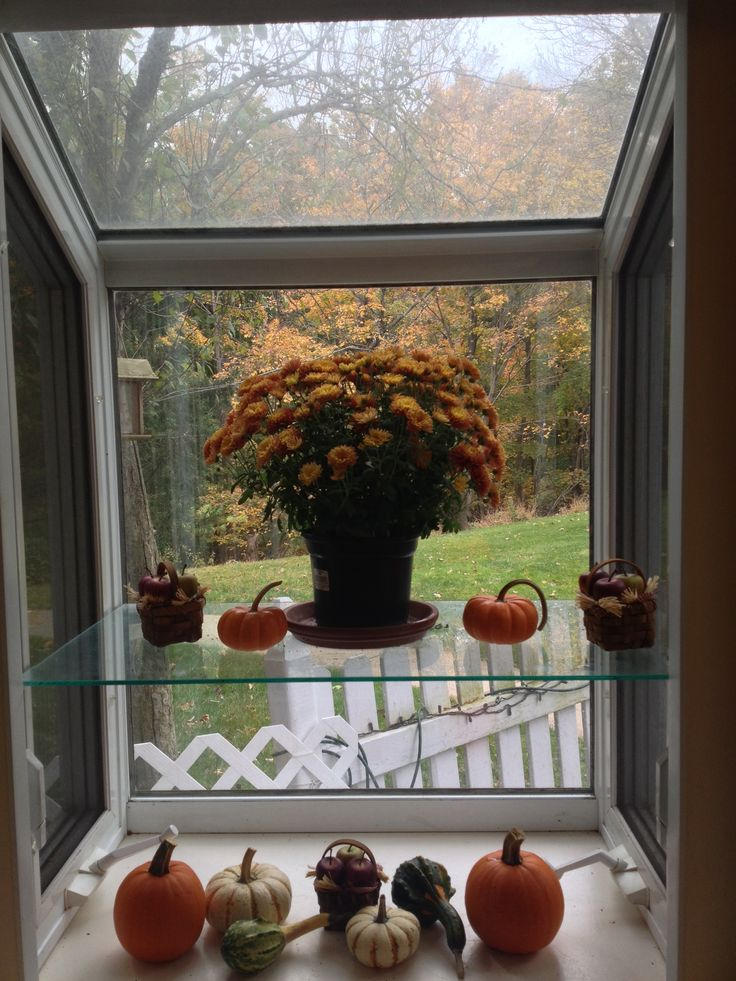 Fall kitchen garden window  Kitchens  Pinterest