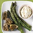Roasted Asparagus and Baby Artichokes with Lemon-Oregano Aioli | Reci ...