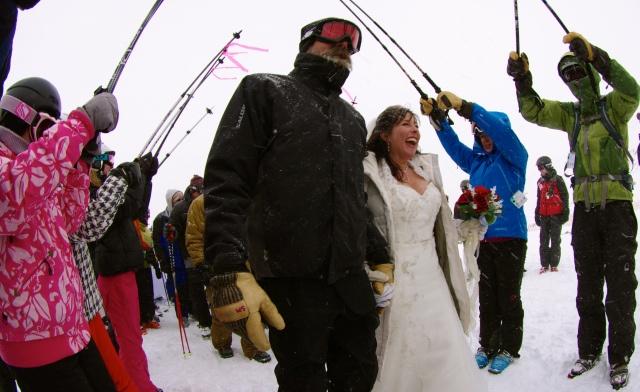 loveland ski area valentine's day wedding