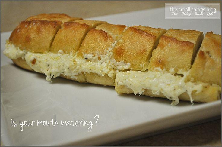 ooey gooey cheesy garlic bread | Recipes | Pinterest