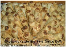 Sorieya's Homemade Cooking: Cambodian pork spring rolls