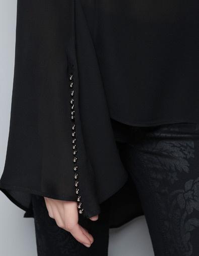 Zara Studio Silk Loose Blouse 64