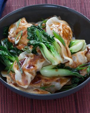In this recipe, you'll boil the potstickers to give the them a ...