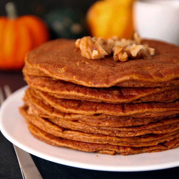 100% Whole Grain Pumpkin Protein Pancakes from Texanerin Baking