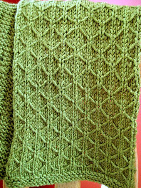 lattice stitch knitting makes Pinterest