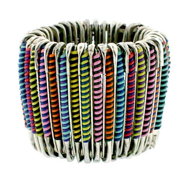 Safety pin bracelet jewelry safety pin bracelet 2 tone multi wire