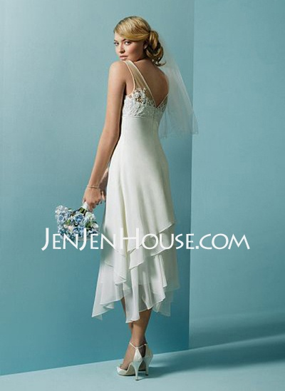 Casual Outdoor Wedding Dress Back