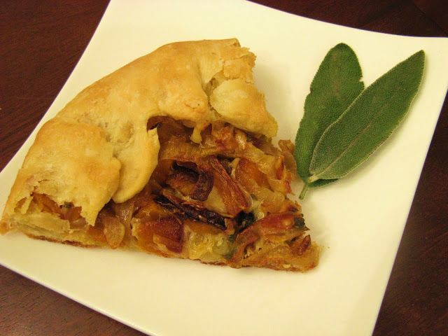 ... Butternut Squash and Caramelized Onion Galette | FOOOOOOD | Pinterest