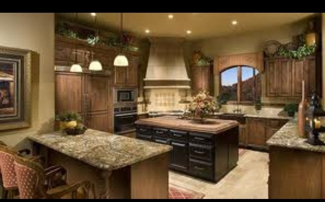Nice big kitchen inside the dream house pinterest for Nice kitchen pictures