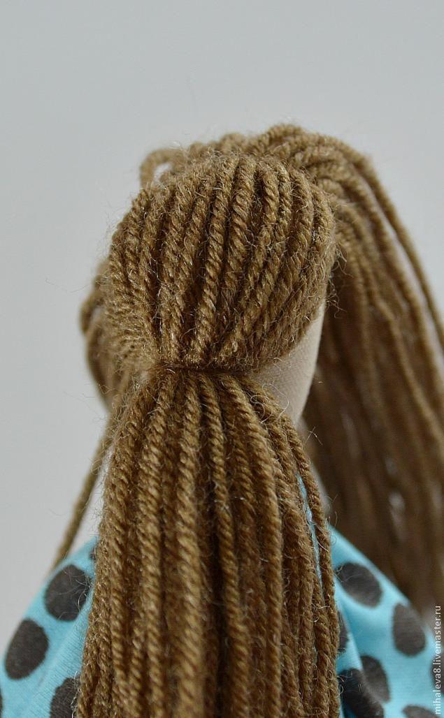 Как сделать волосы куклы тильда