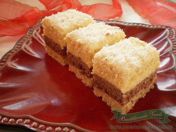 de cocos 3 lg cacao 1 lg Crema-Prajitura Delicia budinca de vanilie 2