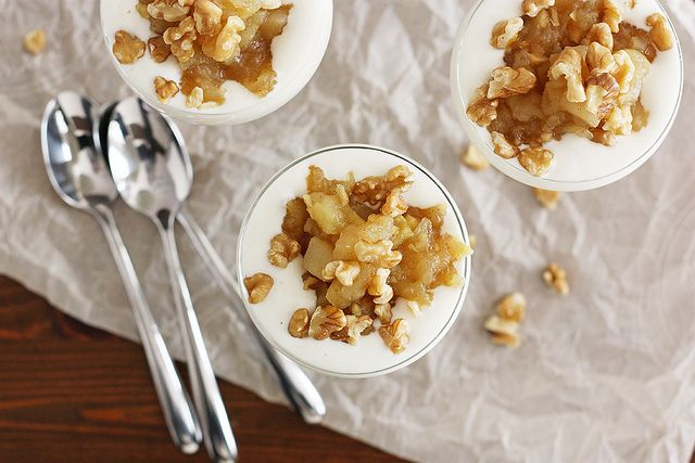 Granny Smith Apple Ginger Compote and French Vanilla Yogurt   Girl ...