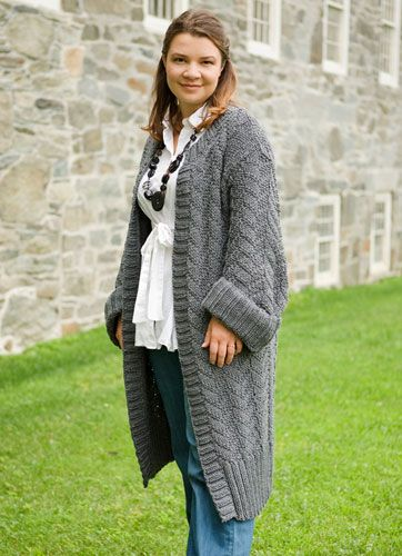 Knitting Pattern For A Long Cardigan : Wishshaw - free Knitting for Women Pinterest