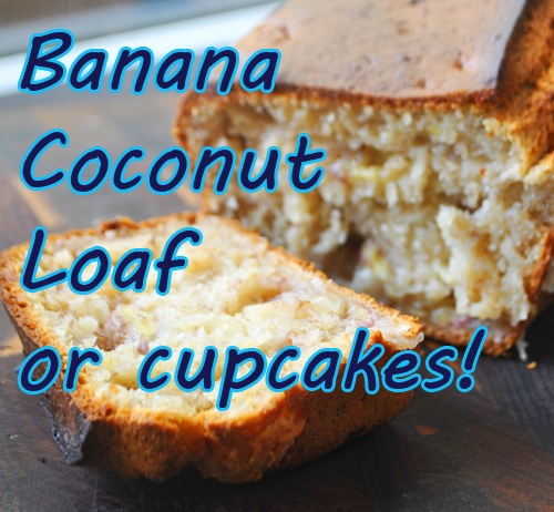 banana and coconut loaf (DF) | Recipes to try | Pinterest