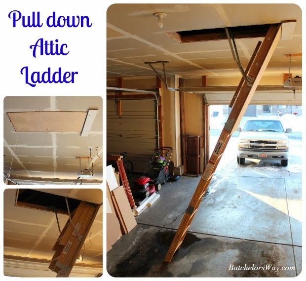 Pull down attic ladder for the home pinterest for Attic pull down