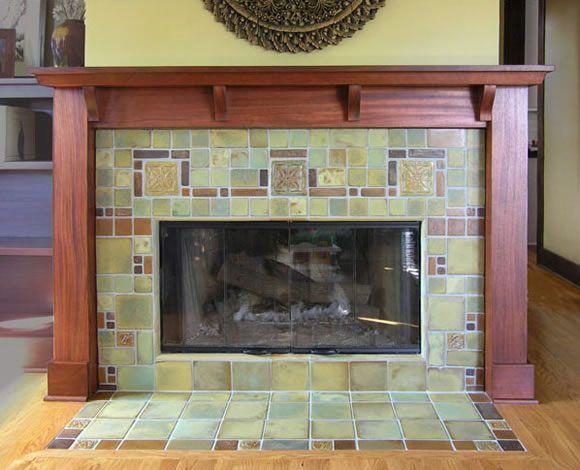 Decorative Fireplace Tile Surround Flooring Tiling