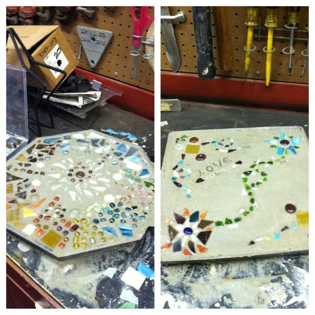 Pin by mary nell stacy on good ideas pinterest for Broken mirror craft ideas