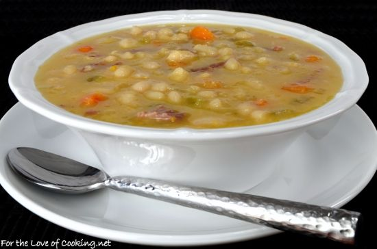 Slow Simmered White Bean and Ham Soup | poke cake | Pinterest