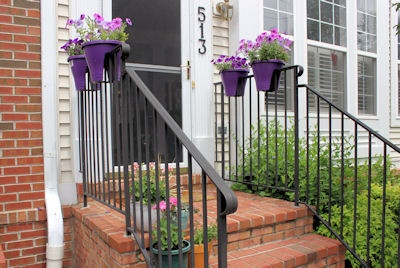 corsica flower bridge planters in purple berry pinterest. Black Bedroom Furniture Sets. Home Design Ideas