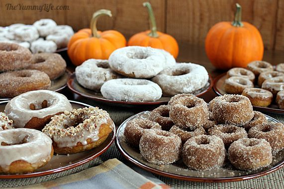 Whole Grain Maple Pumpkin Spice Baked Donuts (& Muffins)