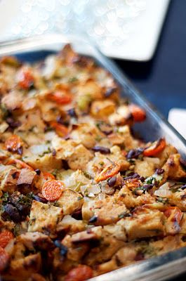 Tomato-Olive Stuffing - holiday food! | must try | Pinterest
