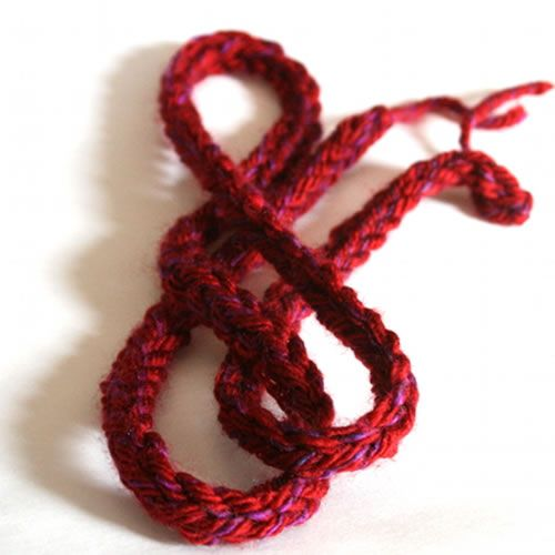Crochet I Cord : Crocheted i-cord tutorial Crochet Pinterest