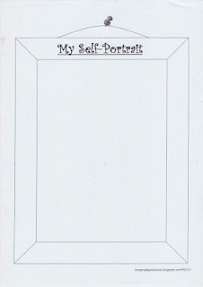 cute template for self portrait language pinterest. Black Bedroom Furniture Sets. Home Design Ideas