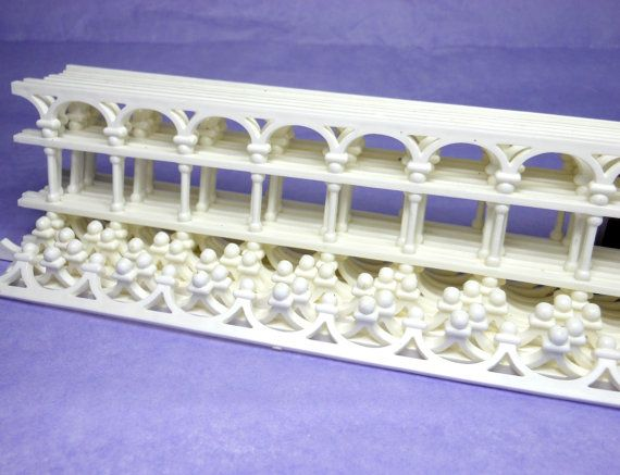 Victorian Doll House Trim Gingerbread Plastic Molding