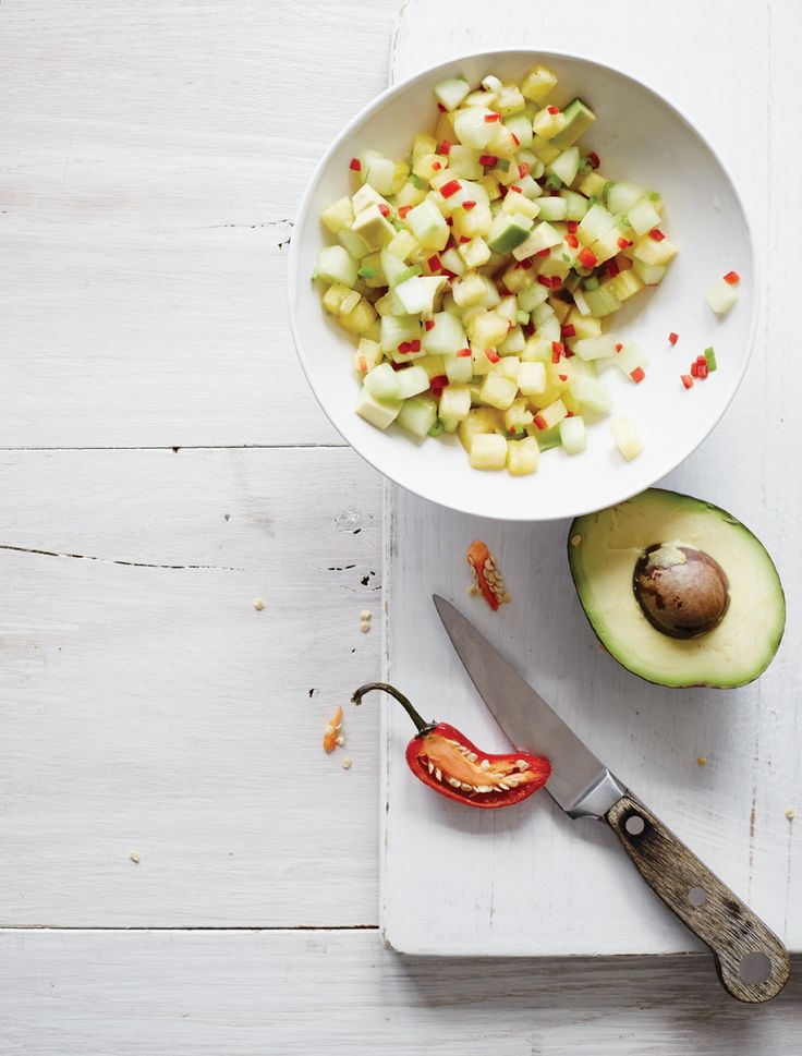 Pineapple, Cucumber, and Avocado Salsa | From the Kitchen | Pinterest