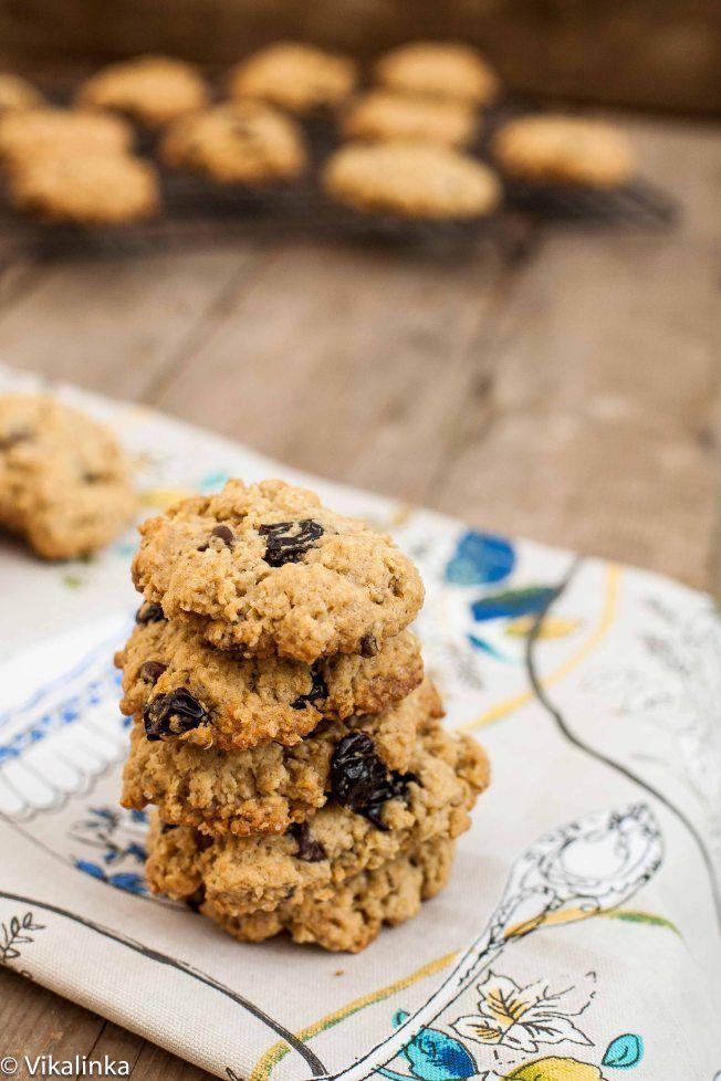 Sour Cherry and Dark Chocolate Granola Cookies