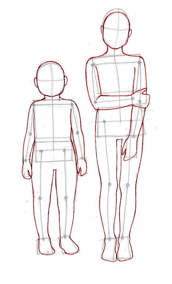 Как нарисовать человека поэтапно карандашом для начинающих детей 11 лет