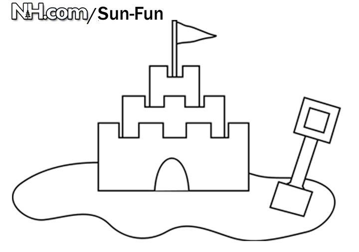 sand castle coloring page - sand castle fun coloring page zendoodling coloring pages