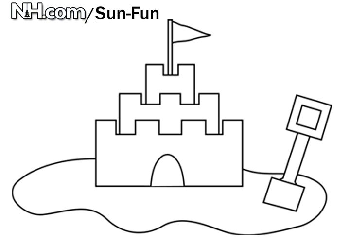 sand castle coloring pages - photo#18