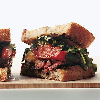 Rib-Eye and Roasted-Tomato Sandwiches Photo at Epicurious.com