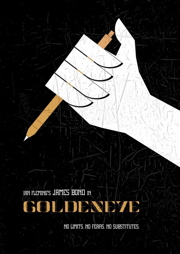 GoldenEye  minimalist movie posterGoldeneye Movie Poster