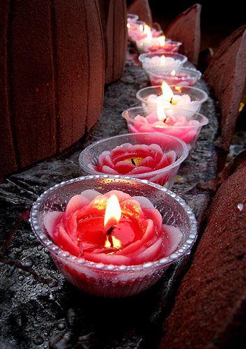 Lotus Candles by Lin_Lynn ☼