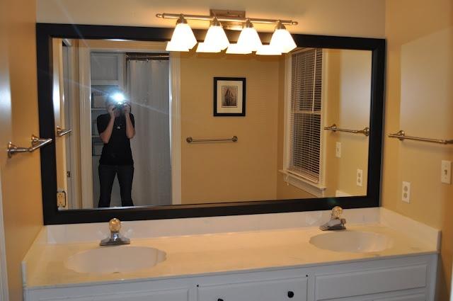 frame a bathroom mirror with mirrormate decorating ideas