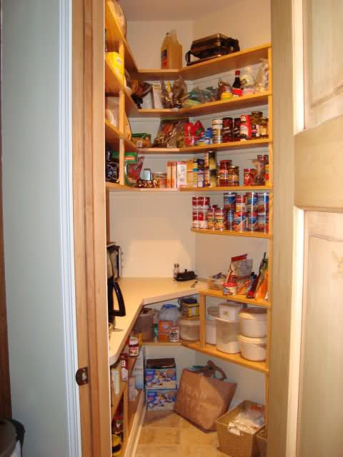 Corner pantry appliance shelf for the home pinterest for Corner kitchen pantry ideas