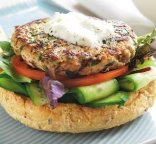 Pork and apple burgers | Healthy Food Guide