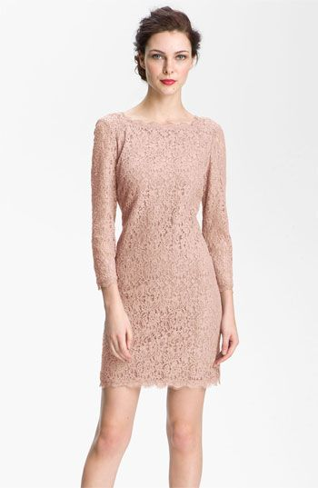 Rehearsal Dinner:  Adrianna Papell Lace Overlay Sheath Dress | Nordstrom