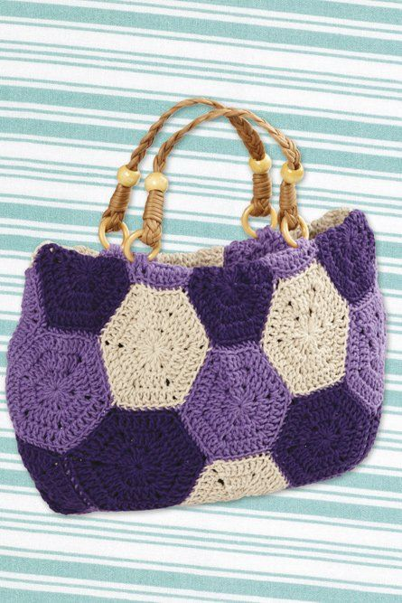 Hexagon Motif Bag Crochet Bags Pinterest